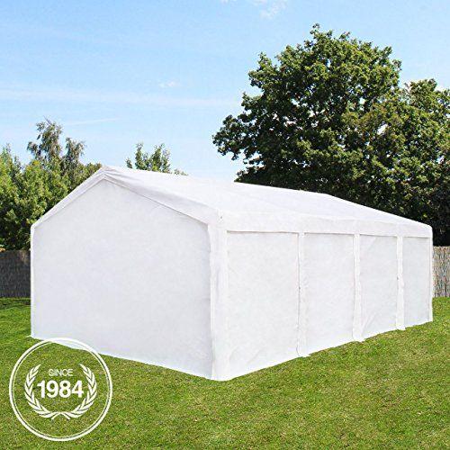 photo Wallpaper of PROFIZELT24-Hochwertiges Partyzelt 4x8m Pavillon Ohne Fenster Lagerzelt 240g/m² PE Plane Gartenzelt Weidezelt-weiß