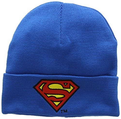 photo Wallpaper of Logoshirt-DC Comics   Superman Logo Beanie   Strickmütze -Blau