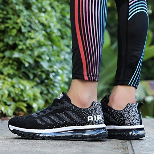 photo Wallpaper of Fexkean-Fexkean Unisex Herren Damen Sneakers Sportschuhe Bequeme Laufschuhe Schnürer Air Running Shoes 35-Schwarz