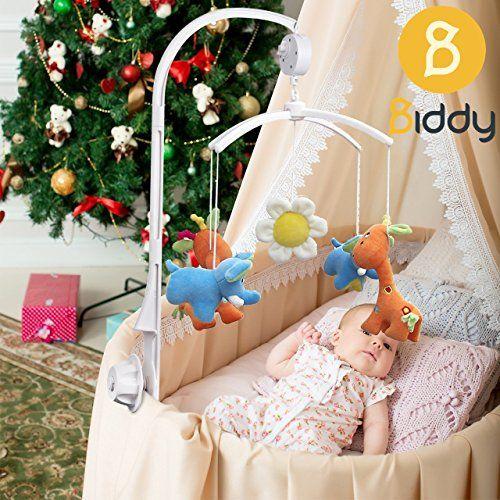 photo Wallpaper of Biddy-Mobile Halterung Mit Spieluhr Für Babybett Und Kinderbett I Einschlafhilfe Für Babys I Mobile-Weiß
