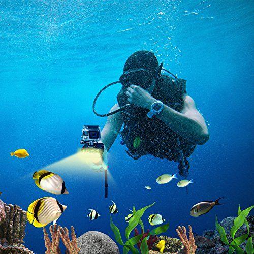 photo Wallpaper of Suptig-SupTig Wasserdichtes Unterwasserlicht Für GoPro Hero 6Hero 5Hero 4Hero 3+ Hero 3Session Und Sjcam-schwarz
