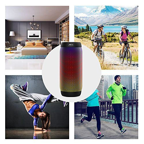 photo Wallpaper of Life-Plus-LED Lautsprecher, HUMTUS Wireless Bluetooth Lautsprecher, HIFI Lautsprecher Tragbarer Stereo Lautsprecher USB-Schwarz
