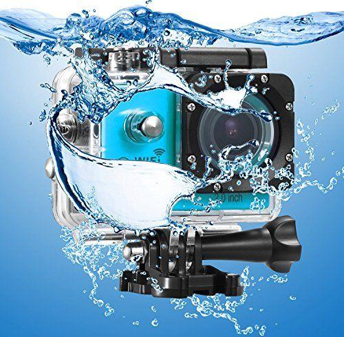 photo Wallpaper of IceFox-Action Cam, Icefox ® Wasserdichte Wi Fi Action Kamera, 12 MP, 1080-Blau