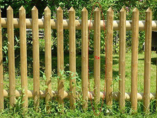 photo Wallpaper of Gartenwelt Riegelsberger-10er Set Zaunbrett Fichte Halbrund 27x60 Mm 100 Cm Hoch, Typ C,-