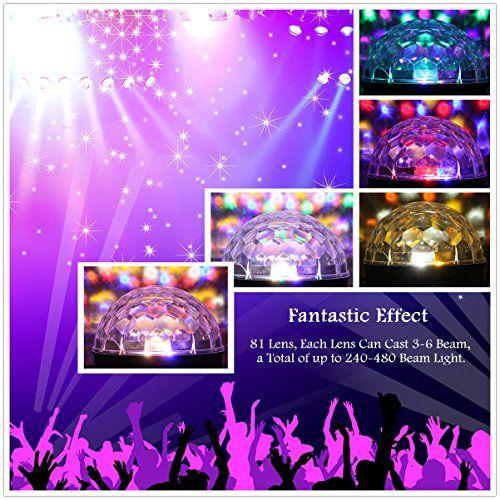 photo Wallpaper of JELEGAN-Disco Licht , JELEGAN Bühne Licht LED Lichteffekte MP3 Musik Player RGB Sprachaktiviertes Kristall-