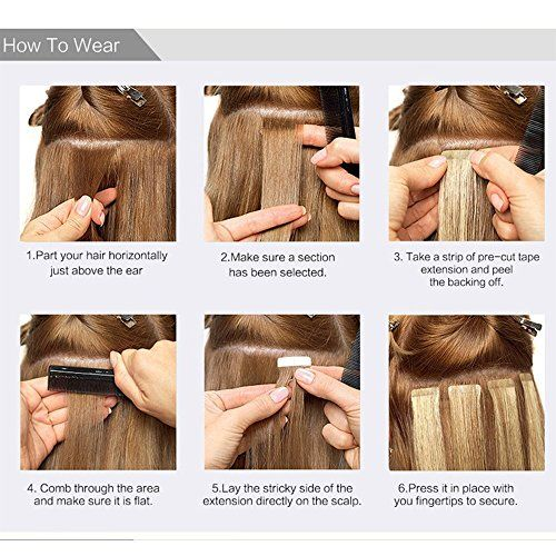 photo Wallpaper of Elailite-Extensiones De Cabello Natural Adhesivas Tape In Hair Extensions   Pelo-#4 Marrón medio