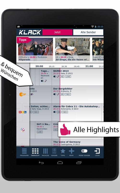 photo Wallpaper of Gong Verlag GmbH-KLACK TV Programm – Das Schnellste Fernsehprogramm-