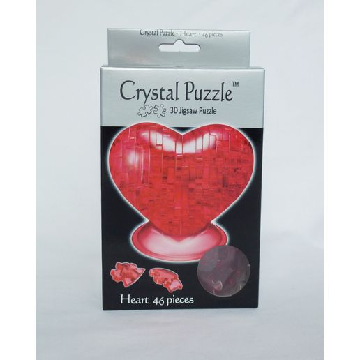 Crystal Puzzle - Red Heart