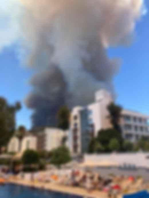 Лісова пожежа в Туреччині. Фото: Facebook / Олеся Павлинська