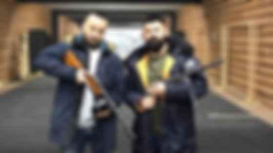 Председатель КРАИЛ Иван Рудый (слева) и ветеран АТО, директор тира TopGum Сергей Чукмасов. Фото: Facebook