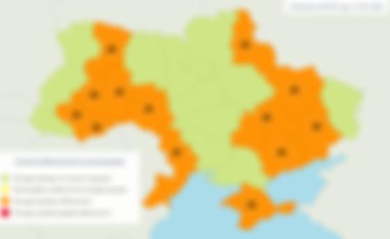 Пожарная опасность в Украине 17 мая. Фото: Укргидрометцентр