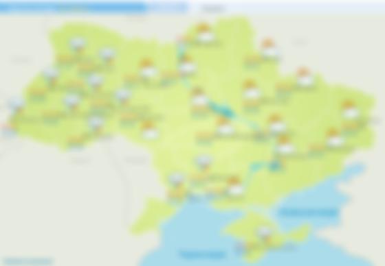 Прогноз погоди на 25 червня. Карта: Укргідрометцентр