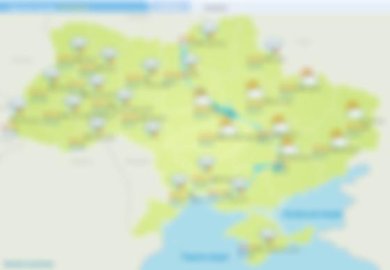 Прогноз погоди на 26 червня. Карта: Укргідрометцентр