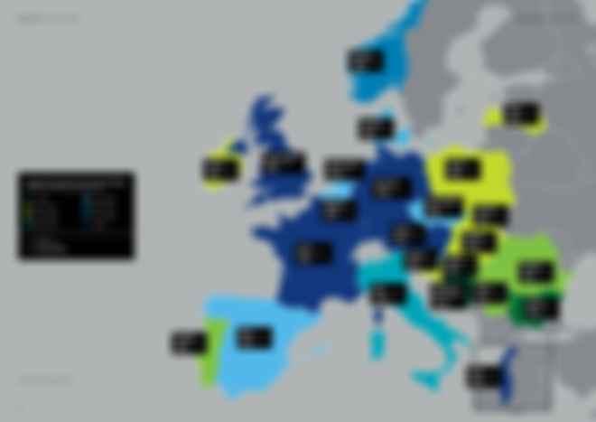Вартість квадратного метру у Європі. Фото: Deloitte