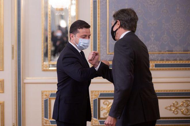 Володимир Зеленський і Ентоні Блінкен. Фото: Офіс президента