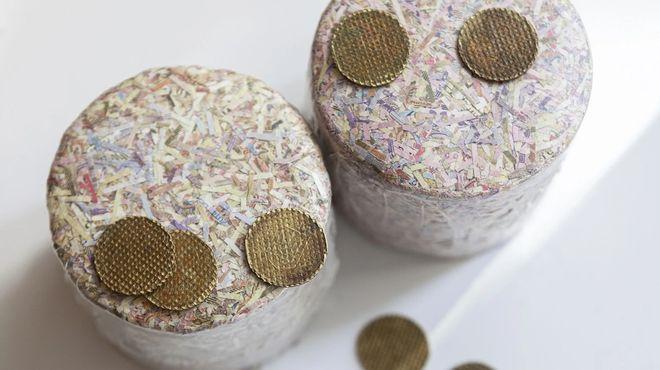 Утилізовані монети НБУ. Фото: bank.gov.ua