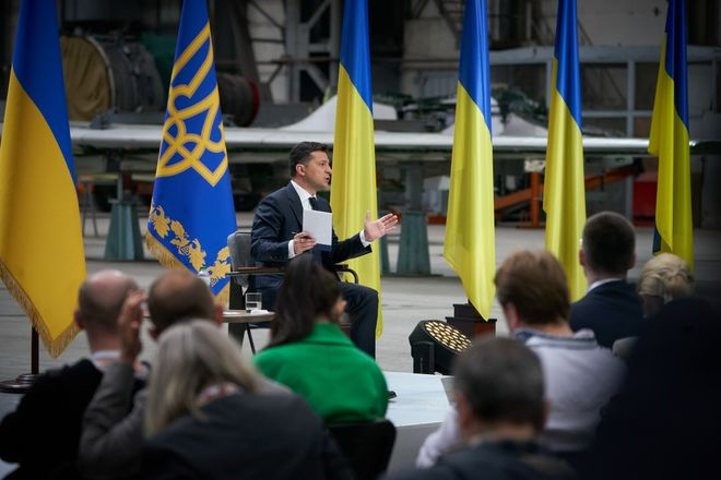 Зеленский прокомментировал конфликт с Кличко. Фото: Офис президента