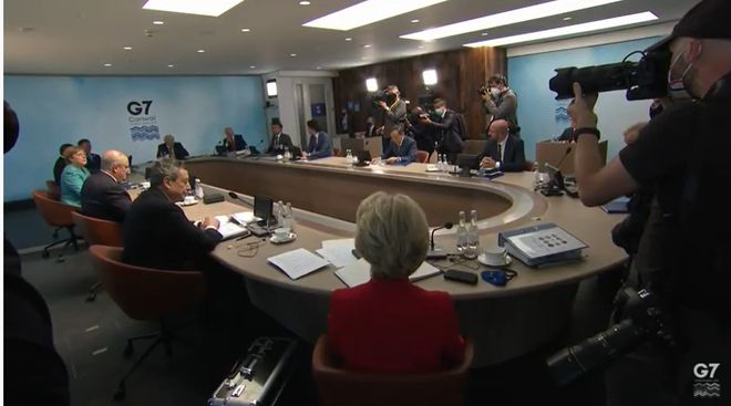 Лідери G7 пообіцяли «зміцнювати демократичні інститути» України. Фото: скриншот