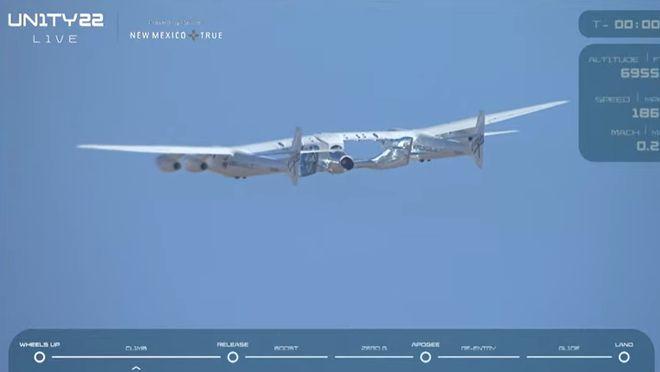 Ракетоплан Unity 22 под самолетом-носителем. Фото: скриншот