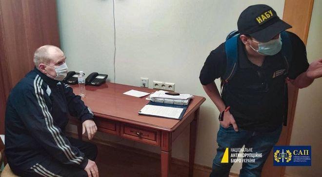 Миколу Чауса затримали в «Феофанії». Фото: НАБУ