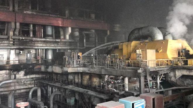 Пожежа на Бурштинській ТЕС: що сталося. Фото: ДСНС