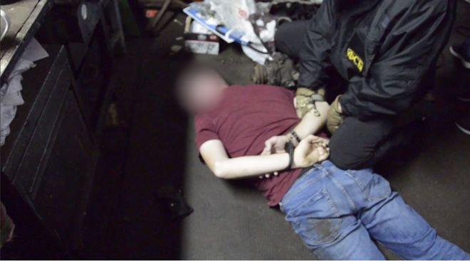 ФСБ РФ сообщила о задержании гражданина Украины. Фото: с топ-кадр видео