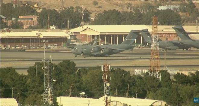 Аэропорт Кабула. Фото: скриншот Youtube-сюжета Euronews