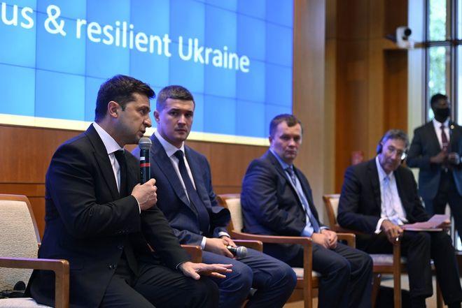 Зеленський у США: презентація Плану трансформації України. Фото: Офіс президента