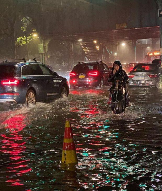 Ураган «Іда» причинив повінь у Нью-Йорку. Фото: pommepommenyc / Instagram