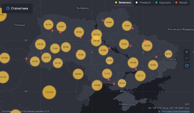 Коронавирус в Украине: статистика на 3 сентября. Фото: сайт СНБО