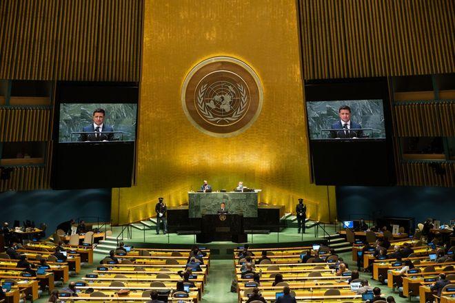 Volodymyr Zelenskyy's speech at the UN on September 22, 2021. Photo: OP