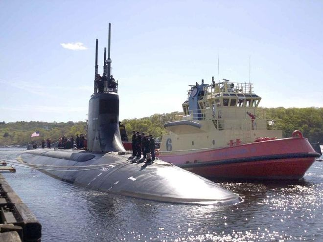 Подводная лодка ВМС США потерпела столкновения с неизвестным объектом, травмировались 11 моряков. Фото: US Navy
