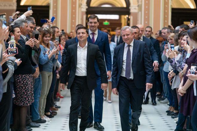 Президент Владимир Зеленский и глава Нацбанка Яков Смолий. Фото: пресс-служба президента