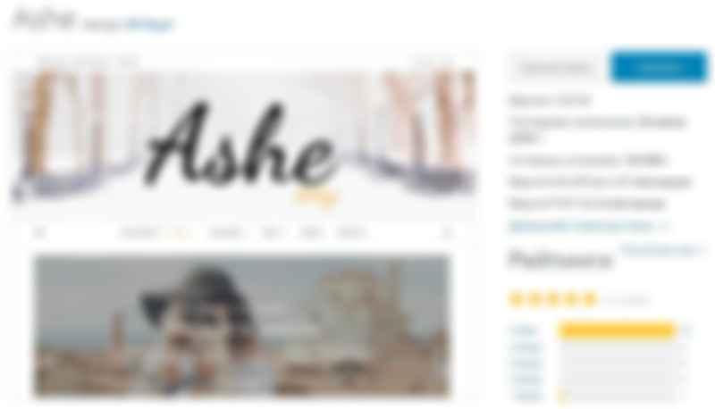 Ashe шаблон для wp картинка
