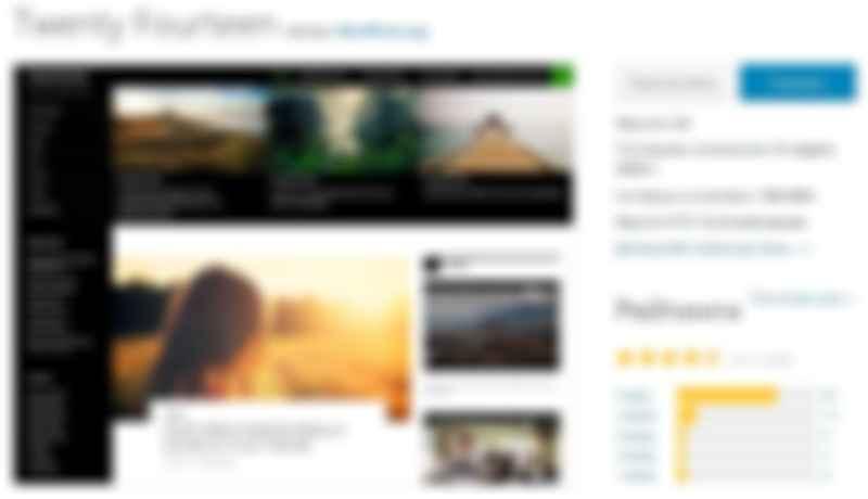 тема на WordPress Twenty Fourteen