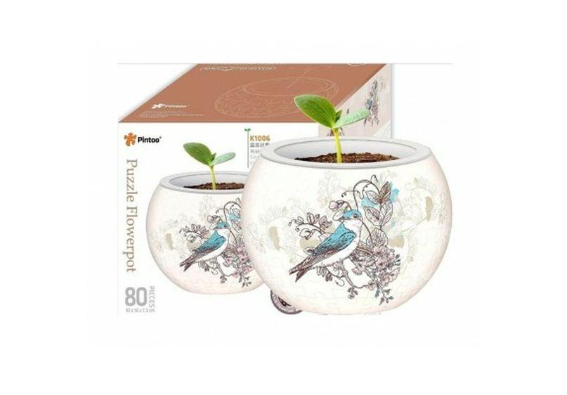 Puzzle Flowerpot - Birds image