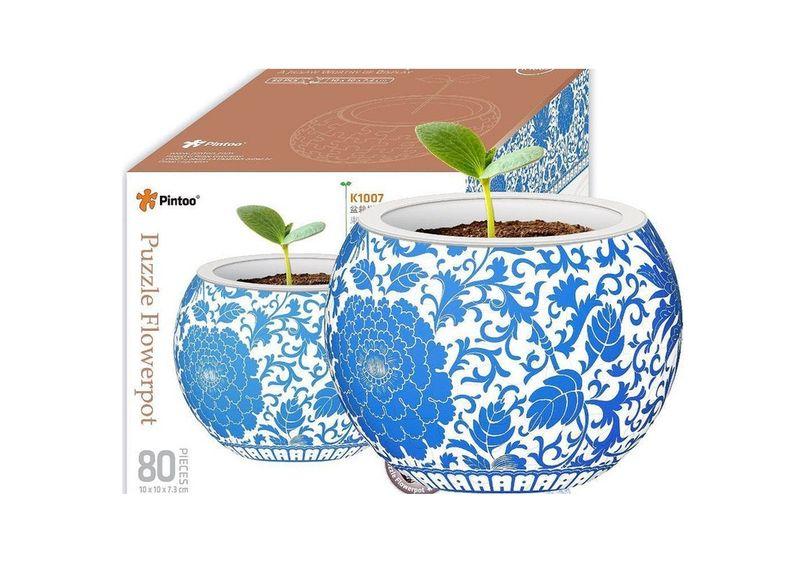 Puzzle Flowerpot - Oriental image